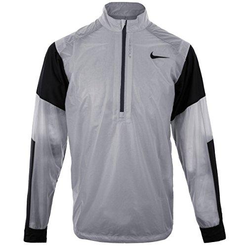 Nike Golf Herren HyperAdapt Wind Jacke halber RV leicht Pullover Top Black/Anthracite