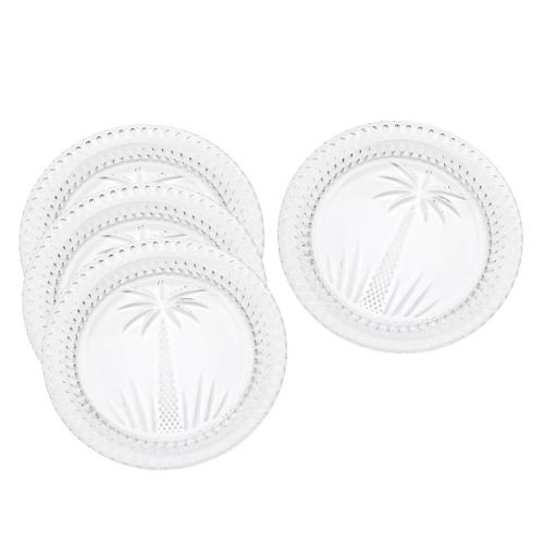 South Beach Palm Plates - Set of 4