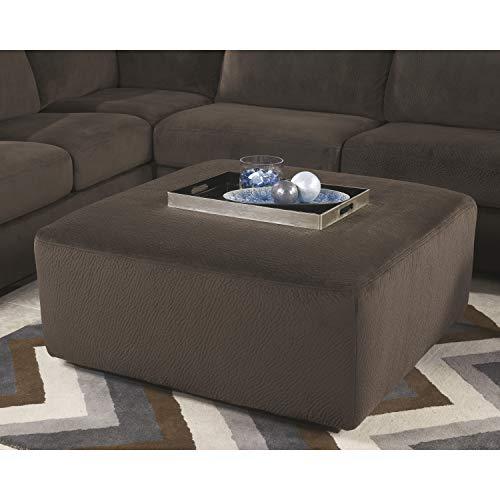 Ashley Furniture Signature Design – Jessa Place Oversized Accent Ottoman – Contemporary Fabric Upholstery – Chocolate