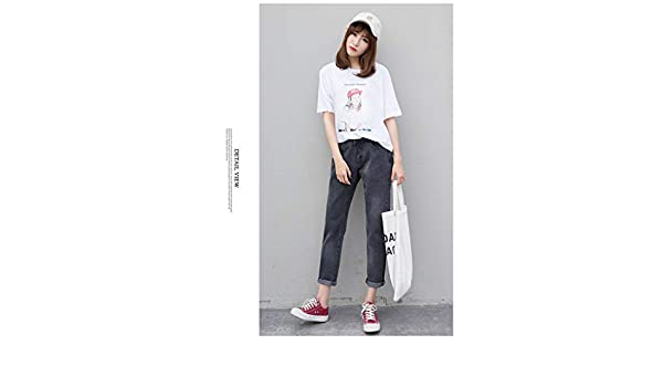 3eabc1ac2160 Amazon.com: Lannmart New Boyfriend Jeans for Women Full Length Loose ...