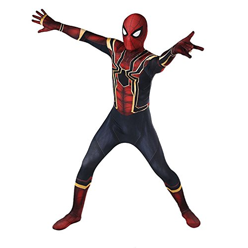 LishufenCOS Cosplay Spider Homecoming Suit Halloween Lycra Spandex Zentai Costume Bodysuit (Kids-XL)