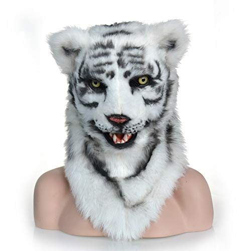 ZITEZHAI-Animal mask White Tiger Mask Funny Custom Design