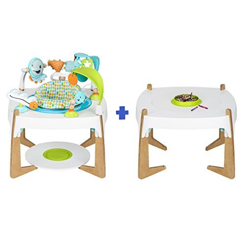 Evenflo ExerSaucer 2-in-1 Activity Center and Art Table Gleeful Sea [並行輸入品]