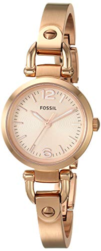 Fossil Women's Georgia Mini Quartz Stainless Steel Dress Watch, Color: Rose Gold (Model: ES3268) (Strap Georgia Watch Fossil)