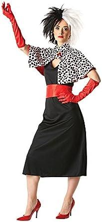 Cruella de disney vil produit agréé noir et blanc costume d ...