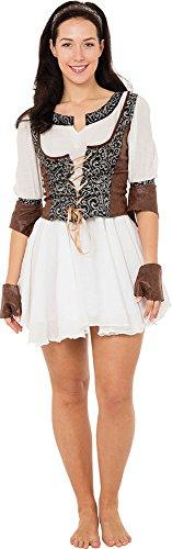 Women's Halloween Robin Hood Maid Marian Fancy Dress Medieval Huntress Costume ()