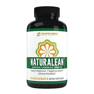 Maximum Strength Weight Loss, 100% Pure Garcinia Cambogia Complex Blend, 60 Veggie Capsules, SUPRAGEN RESEARCH NATURALEAN