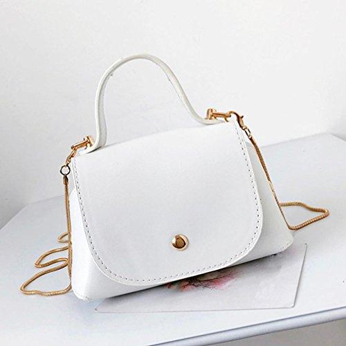 Bag Shoulder Bag Fashion Women Phone White Pure Bag Bag Color Leather Hand KIMODO Crossbody npx7qznv