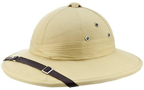 French Army Tropical Pith Helmet in British Khaki (Pith Helmet)