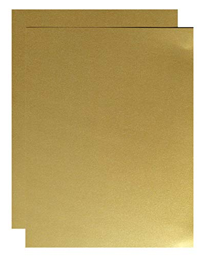 FAV Shimmer Pure Gold 8-1/2-x-14 Lightweight Multi-use Paper 200-pk - 120 GSM (81lb Text) PaperPapers Legal Size Everyday Paper - Professionals, Designers, Crafters and DIY Projects by 2pBasics