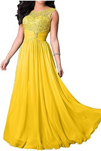 Festlichkleider Lang Marie Damen Gelb Brautmutterkleider Brautmutterkleider Braut Chiffon Abendkleider La RxSqn10S