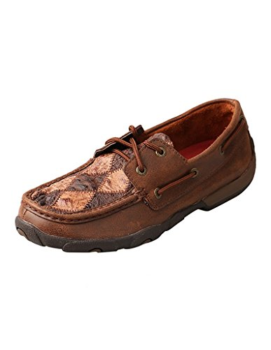 - Twisted X Women�s Driving Moccasins � Oiled Saddle Ostrich/Bomber Ostrich (8.5)