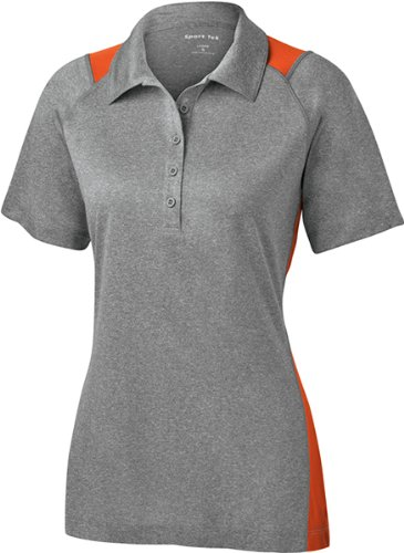 Sport Tek Ladies Heather Colorblock Contender Polo-M for sale  Delivered anywhere in USA
