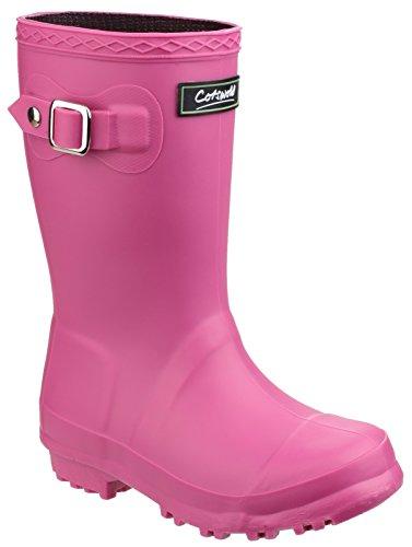 Cotswold girls Cotswold Girls Buckingham PVC Buckle Welly Wellington Boot Pink Fuchsia PVC UK Size 10 (EU 28) by Cotswold