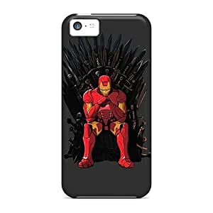 Iphone 5c Case Cover - Slim Fit Tpu Protector Shock Absorbent Case (iron Man Throne)