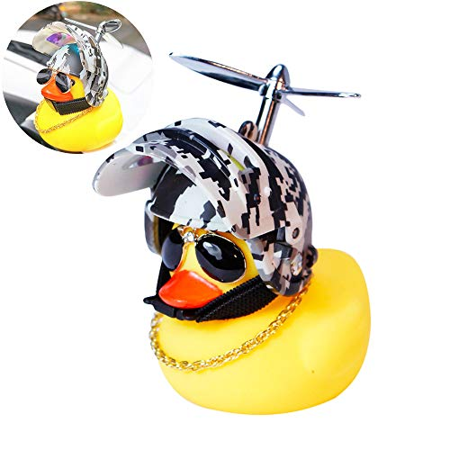 Rubber-Duck Toy Car Ornaments Yellow Duck Car Dashboard Decorations with Pro