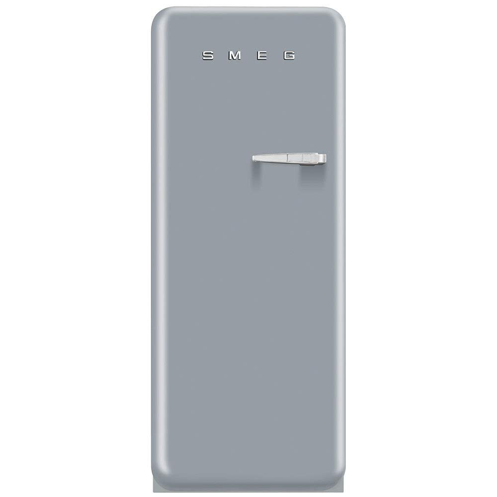 Smeg FAB28USVL1 50s Style 9.2 Cubic Feet Silver Left-hand Refrigerator with Freezer Compartment