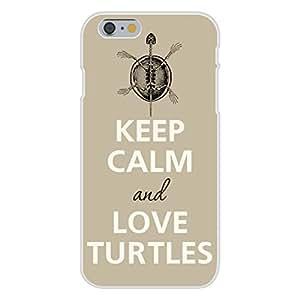 Apple iphone 6 plusd 5.5 Custom Case White Plastic Snap On - Keep Calm and Love Turtles