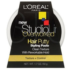(L'oreal Paris Studio Line Texture and Control Overworked Hair Putty 1.7 oz (3 Pack))