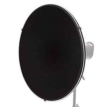 Image of Bag & Case Accessories Fovitec - 1x 22 inch Bowens Mount Photography Beauty Dish w/ Honeycomb Grid - [Aluminum][Lightweight][EZ Snap-On Grid][Strobe & Monolight Compatible]