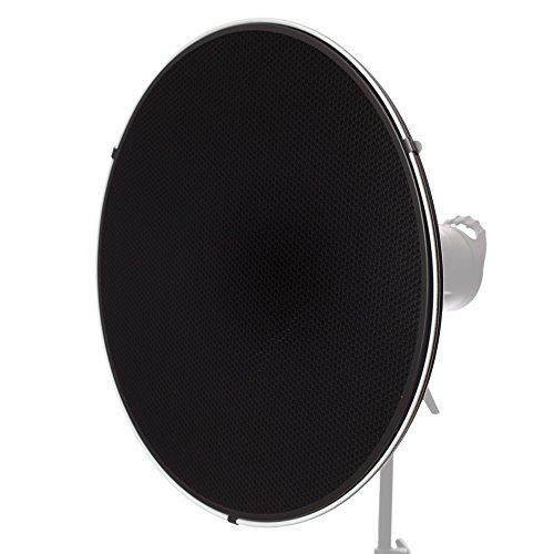 Fovitec - 1x 28 inch Alien Bees Mount Photography Beauty Dish w/Honeycomb Grid - [Aluminum][Lightweight][Snap-On Grid][Strobe & Monolight Compatible]