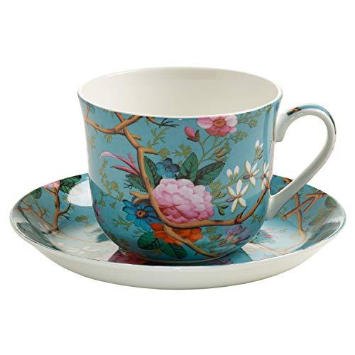 Maxwell & Williams Kilburn, Cup for Breakfast + Saucer, Victorian Garden, WK05300