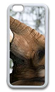MOKSHOP Adorable elephant head Soft Case Protective Shell Cell Phone Cover For Apple Iphone 6 (4.7 Inch) - TPU White
