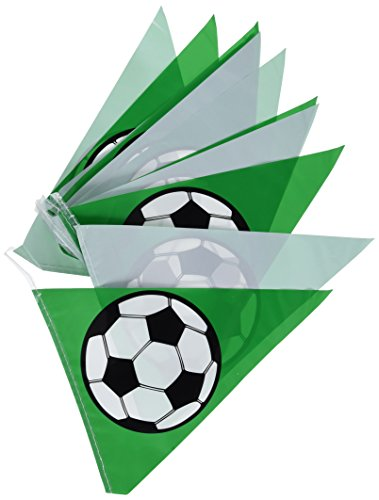 Soccer Ball Pennant Banner Party Accessory (1 count) (1/Pkg) ()
