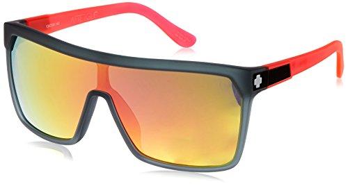 Spy Optic Flynn Oversized Sunglasses for Men Optimal Clarity Shatter Resistant Lenses Grilamid Frame Large Sport - Sunglasses Spy Mens