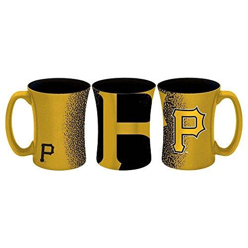 MLB Pittsburgh Pirates Sculpted Mocha Mug, (Pittsburgh Pirates Mug)