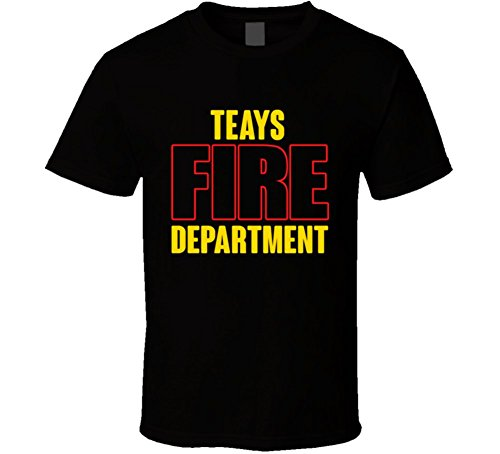 Teays Fire Department Personalized City T Shirt S Black