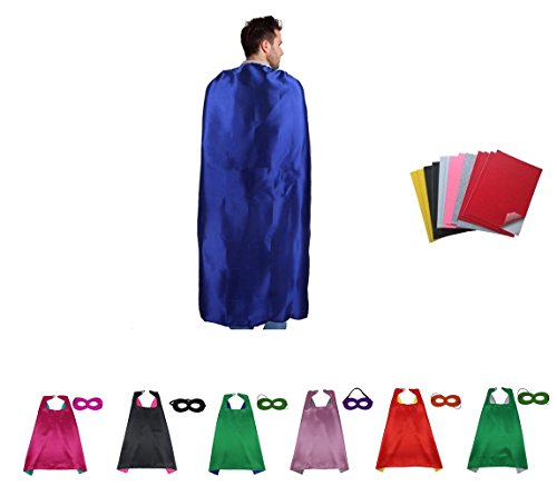 Ranavy Superhero Capes And Masks Bulk Set Dress Up for Kids - Children DIY Birthday Party Costumes (7 PCS (Easy Diy Halloween Costumes For Work)