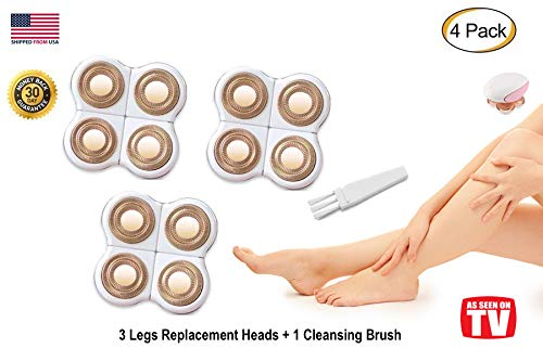 (Legs Hair Removal Replacement Heads for Women's Painless Trimmer Shaver for Smooth Finishing and Perfect Touch, As Seen On TV, Count 3)