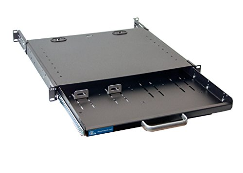 1U Compact rack mount keyboard drawer with retractable mouse pad for right or left hand operator supports 2 post and 4 post rack cabinet by IAENCLOSURES (Image #6)