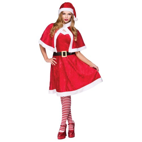 Little Miss Santa Plus Size Adult Women Fancy Dress Costume