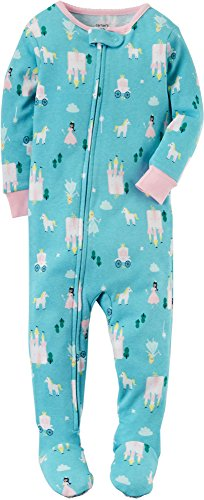 Carter's Girls' 18M-4T Princess Print One Piece Cotton Pajamas 18 Months by Carter's