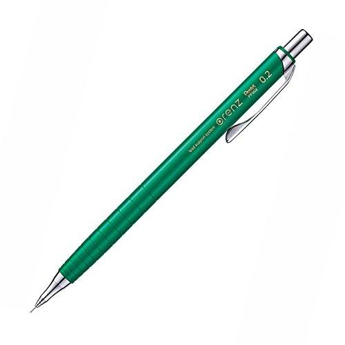 Pentel Mechanical Pencil Orenz 0.2mm, Green Body (XPP502-D)
