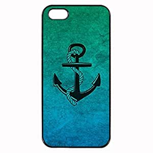 ombre anchor Custom Image Case iphone 5 case , iphone 5S case, Diy Durable Hard Case Cover for iPhone 5 5S , High Quality Plastic Case By Argelis-sky, Black Case New