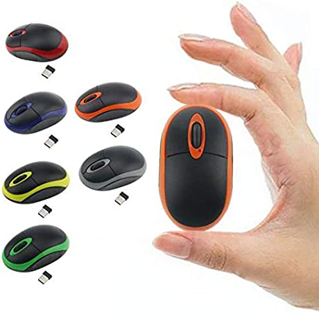 Baoer 2.4GHz Cordless Color Slim Portable Mini Optical Mouse USB Receiver Wireless Mouse Silver Grey