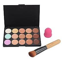 15 Colors Contour Face Cream Makeup Concealer Palette+Sponge Puff Blender Powder Brush Makeup Sets