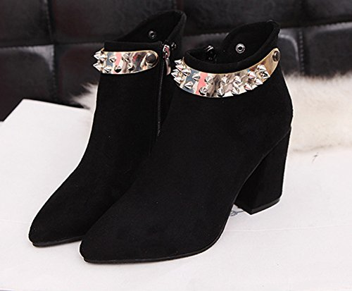 Mariage Original Noir Rivet Bottines Aisun Pointues Femme wAS6qPTIx
