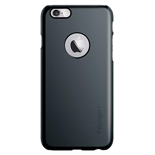 Spigen [Série Fit] [Thin Fit A] [Metal Slate] Surface anti-dérapante avec une excellente adhérence et découpe du logo Apple, Coque RIGIDE et MATE - Emballage ECOLOGIQUE - Coque fine pour iPhone 6 (201