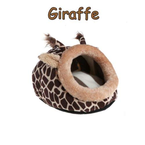 FidgetKute Guinea Pig Cage Bed Pillow Small Animal House Hamster Nest Warm Pad Giraffe from FidgetKute