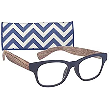 a7b225fafd03 Rectangular Women's Reading Glasses with Wood Patterned Temples By ICU +1.25