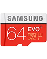 Samsung EVO Plus Class 10 64GB MicroSD 80 MB/S Memory Card with SD Adapter (MB-MC64D)