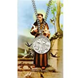 Saint Francis of Assisi Pewter Medal Pendant with Prayer Card