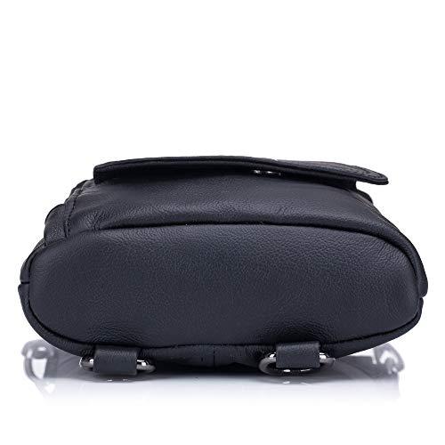 Yqxr Black De 8 Bolsillo Deportes Y Bolso Cuero Para Hombres Pulgadas Multifunción Compras Bolsos Bandoleras Rr6wRq