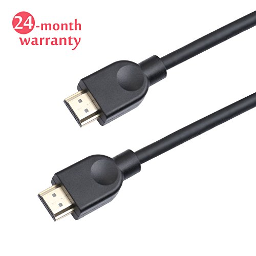 HDMI Cable 4K 1080P 3D and Audio Return Channel with Ethernet HDMI v1.4 6 Feet Gold Plated Connectors Xbox Playstation PS3 PS4 PC Apple TV Weduda