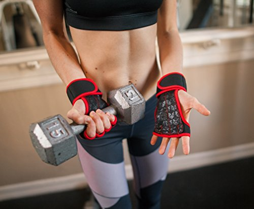 Workout Gloves Wrist Wrap Best Workout Gloves For Weight Lifting, Gym Workouts Red Xs -1558