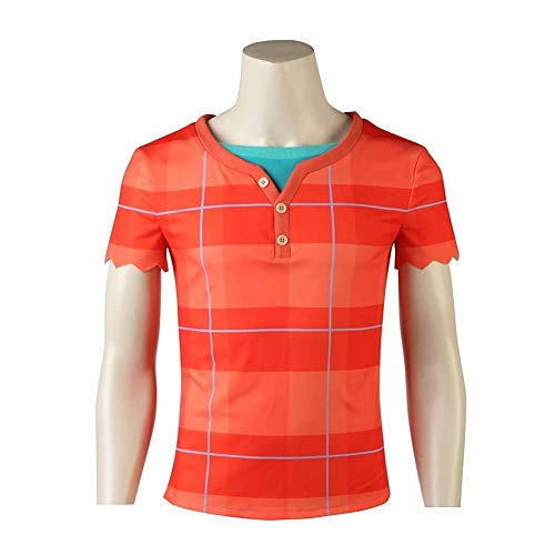 Joyfunny Ralph Breaks Costume Wreck It Ralph Halloween Cosplay Suit Top Shirt 3XL -